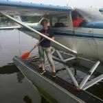 Victoria enjoys the Oshkosh seaplane base